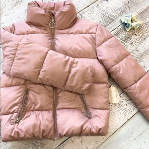 NWT Altar'd State O Ring Pink Puffed Coat